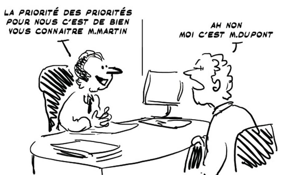 Illustration humoristique pour démontrer l'importance de la connaissance client